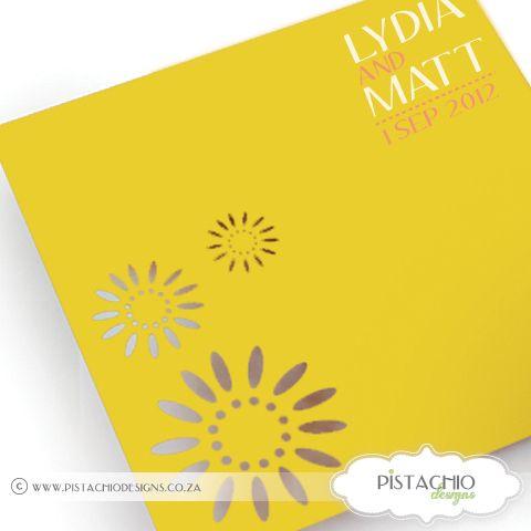 Summer Laser Wedding invitation