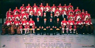Canada Cup 1976 TEAM CANADA PORTRAIT POSTER - Complete Roster On-Ice Team Photograph - available at www.sportsposterwarehouse.com