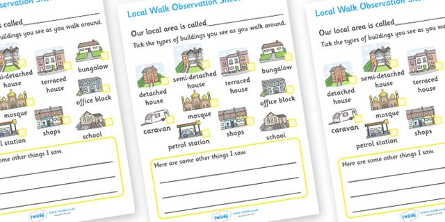 Twinkl Resources Gtgt Local Walk Observation Sheets Houses