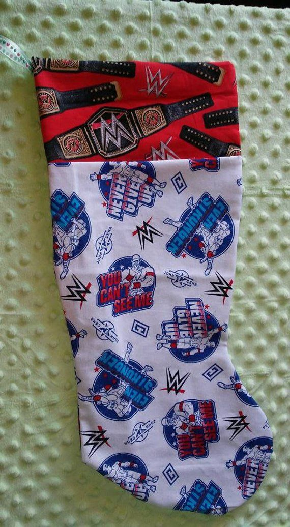 Handmade,John Cena,Christmas Stocking,WWE,Championship Belt,Fan Gift ...