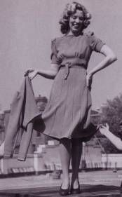 14. Because fabric and other resources were rationed heavily due to the war, women continued to wear dresses with hemlines that were shorter than in previous times in history.  Suits continued to be a popular alternative to dresses in this time period.