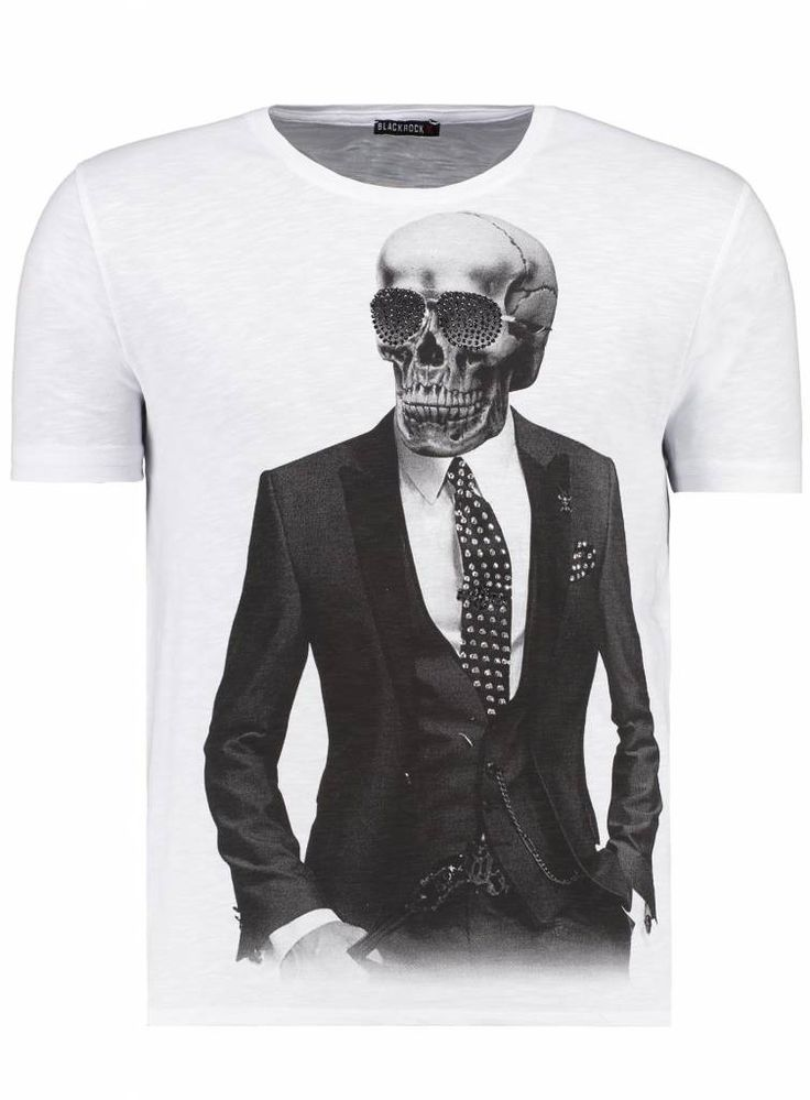 Skull gentleman sparkly tee with sequins #sequins #flashy #tshirt #clothing #fashion