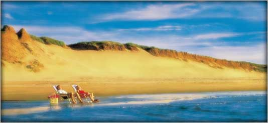 If you go to PEI, make sure you make a trip to the Singing Sands Beach at Basin Head/Red Point Provincial Park (east side of the island). But make sure you go while the sun is up, then the sands will still be warm enough to 'sing'.