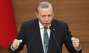 Recep Tayyip Erdoğan...absolute arse of a man.  Erdoğan seeks injunction against German media chief who laughed at poem.   Axel Springer boss Mathias Döpfner in hot water after saying he laughed out loud at ditty mocking Turkish president