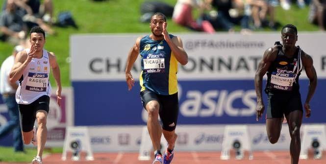 Athlétisme - Championnats de France - Jimmy Vicaut a approché son record samedi à Angers. (AFP)