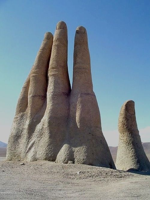 HAND OF THE DESERT, ATACAMA, CHILE --The 25 Places you Must Visit in South America