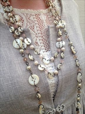 Swoon with Deb Hodge Events: Vintage Button Workshop. A lovely button creation statement necklace.