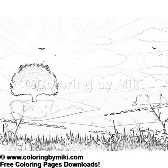 nature landscape coloring page #1184   ultimate coloring pages