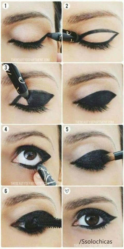 como delinear un ojo
