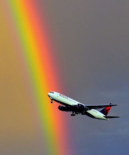 767 Rainbow Takeoff, Salt Lake City Airport, Utah