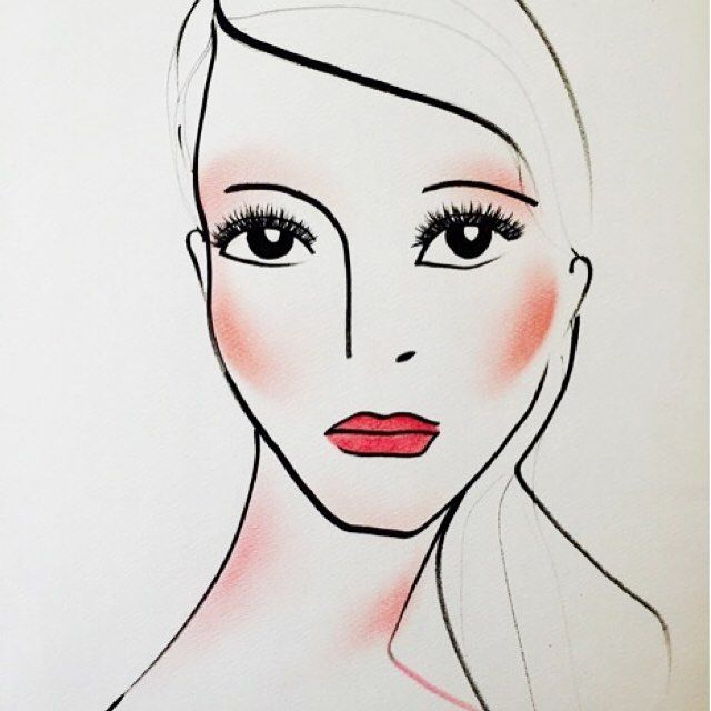 Hot in Draping! Sweep just below the cheekbones to contour and define the cheekbones. Drape the high of the cheekbones to gradate color. Wrap from eye to temple in a half moon shape for added drama. Drape the tip of the chin and sweep along the ceneter of the neck and décolletage to ensure overall balance. -