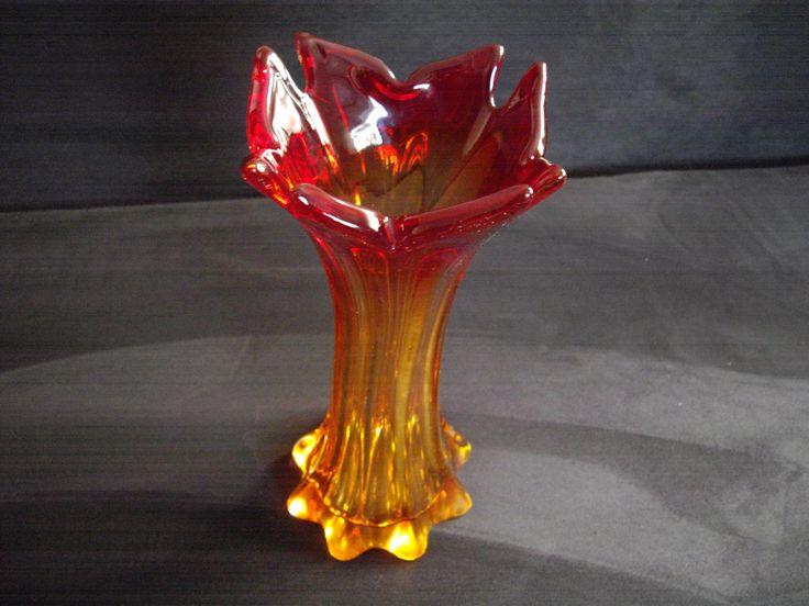 Murano amber / red vase 1160g (60.00 EUR) by abrakadabra5910