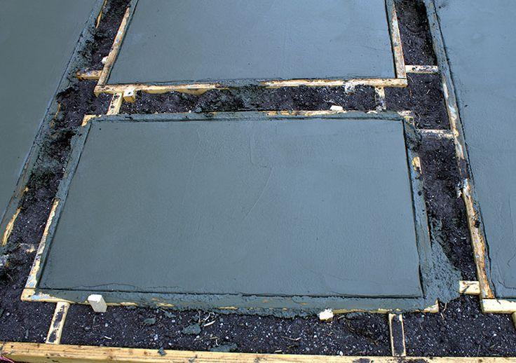 Poured Concrete Pavers Create a Stylish Patio