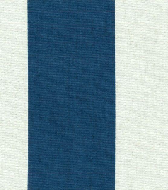 Nate Berkus Home Decor Print Fabric Baltic Great Wide Navy Stripe