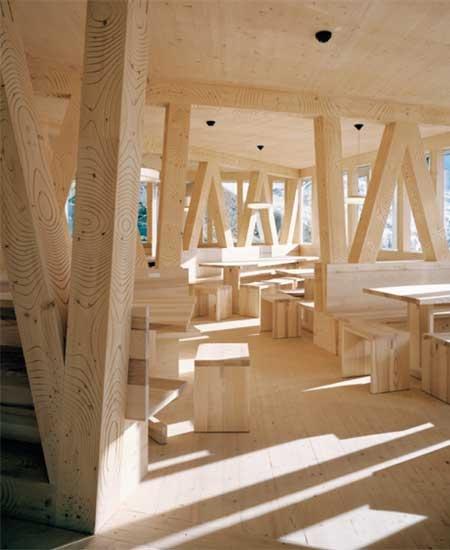 Eth studio monte rosa with bearth deplazes architekten ag new monte rosa hut valais switzerland interior