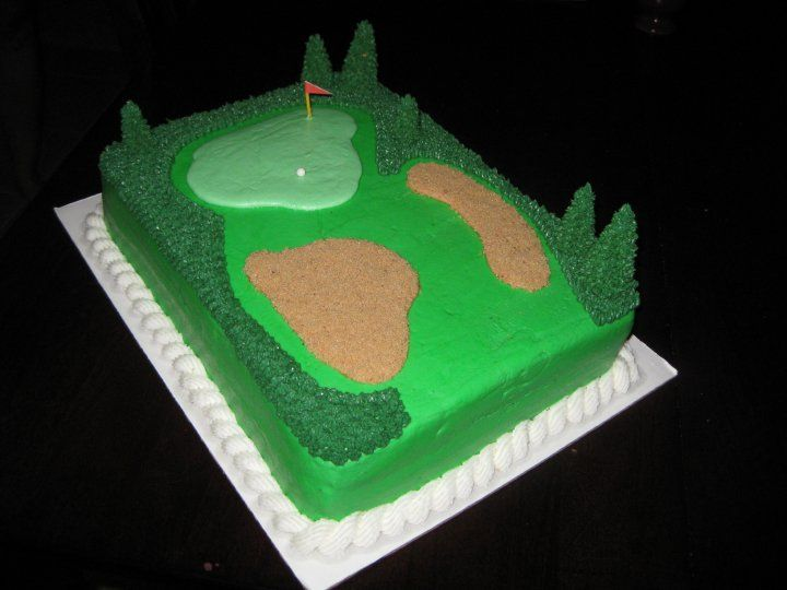 Golf Themed Cake Images : 8 best Golf - Cakes, Cookies & More images on Pinterest ...