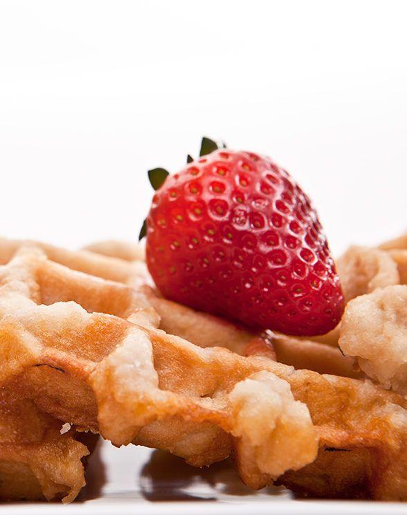 Strawberry topped Bel-Gaufre Belgian Waffles