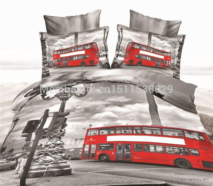 Liefde in london 3d bruiloft beddengoed set laken luxe quilt/koningin beddengoed sprei dekbedovertrek katoen in  van  op Aliexpress.com