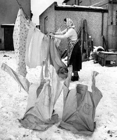 Has your washing ever been frozen on the line when you went to fetch it in?
