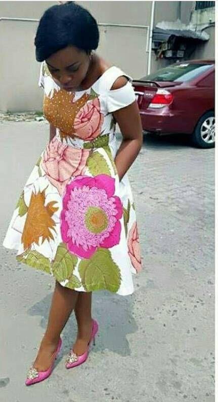 African Ankara Print Dress Ankara Dress Short Dress Flared
