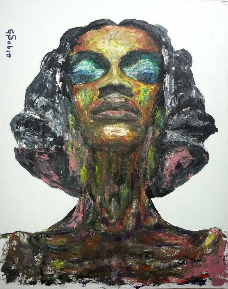 "Saatchi Art Artist George Sabin; Painting, ""Woman from Nigeria"" #art"