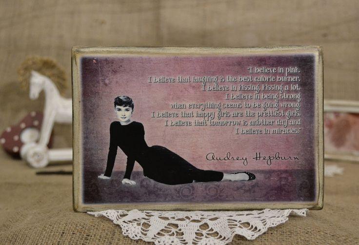Audrey Hepburn idézet.