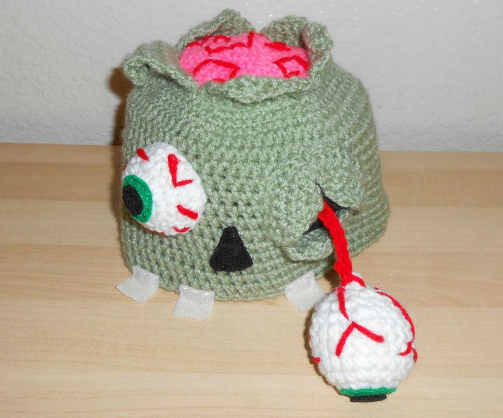 Zombie Knitting Pattern : Best images about crochet halloween hats on pinterest