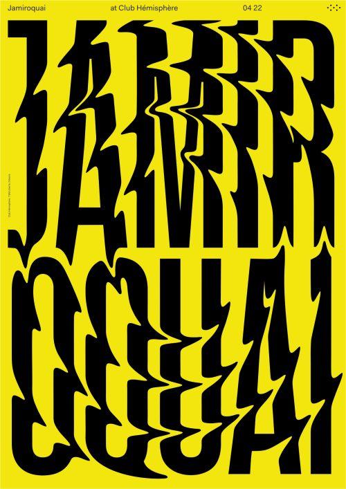 Poster for Club Hemisphere series featuring Jamiroquai.