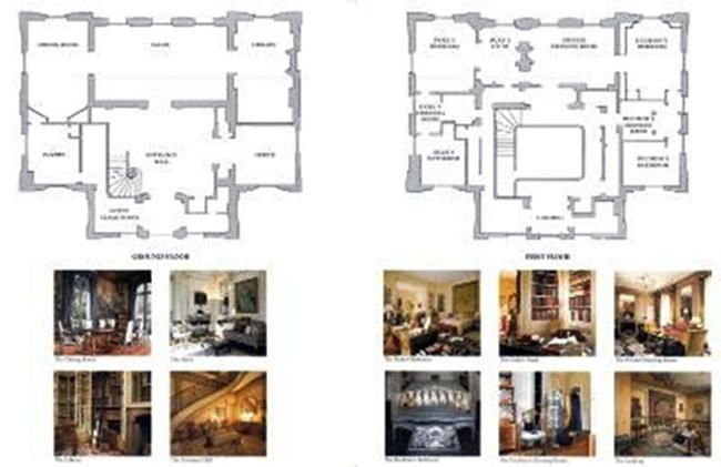 Pin On Vintage Luxury House Or Estate Pictures Floor Plans
