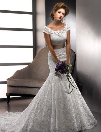 Maggie Sottero - Scoop Mermaid Gown in Lace