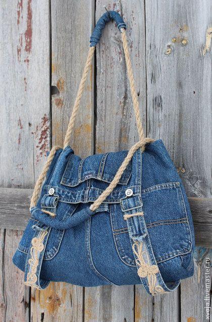 Оригинальные сумки из джинса своими руками. Обсуждение на LiveInternet - Российский Сервис Онлайн-Дневников