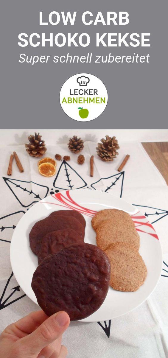 Low Carb Schoko Kekse ohne Kohlenhydrate – leckeres Plätzchen Rezept