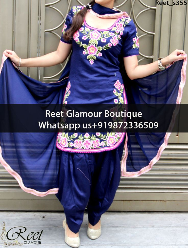 Fabulous MidNight Blue Embroidered Punjabi Suit Product Code : Reet_s355 To Order, Call/Whats app On +919872336509 We Offer Huge Variety Of Punjabi Suits, Anarkali Suits, Lehenga Choli, Bridal Suits,Sari, Gowns Etc .We Can Also Design Any Suit Of Your Own Design And Any Color Combination.