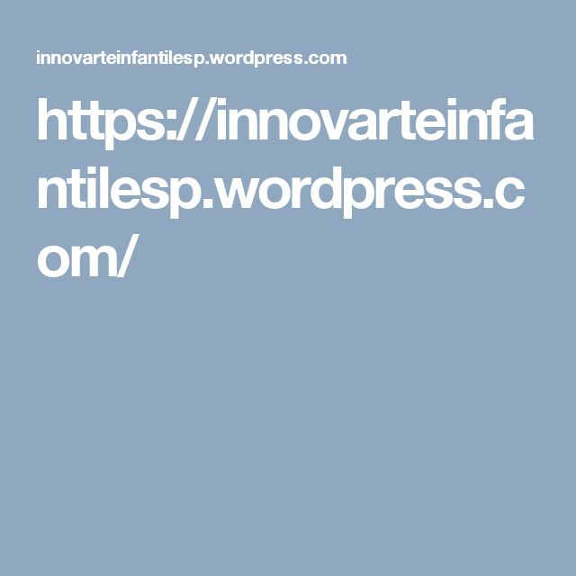 https://innovarteinfantilesp.wordpress.com/