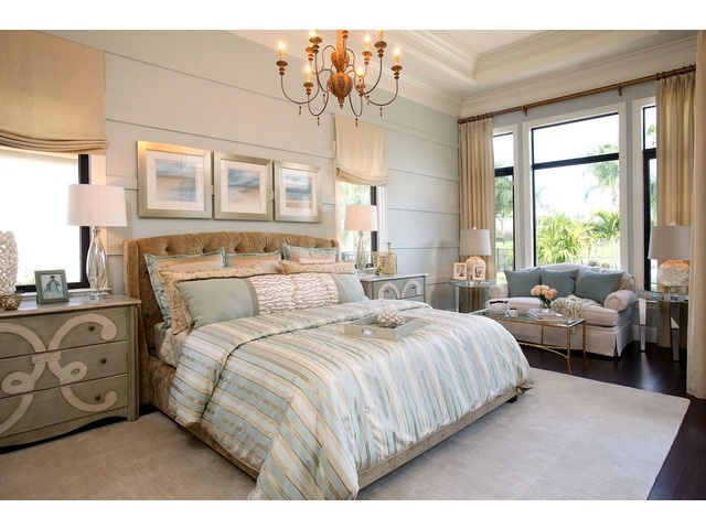 Sold Coastal Traditional Master Bedroom Quail West Naples Florida Bedroom Decorating