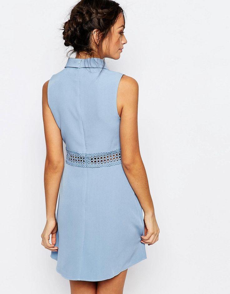 Image 2 of New Look Crochet Waist High Neck Skater Dress. MariagesRobes De  PatineuseAsosNouveau ... fde30b2308a5