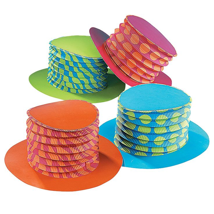 Bright Accordion Top Hats Mad Hatter PartyMad