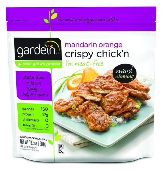 """We seem to be a huge fan of Gardein products and Gardein Mandarin Orange Crispy Chick'n is no exception. This one in particular has a unique flavour that we so like. Gardein Mandarin Orange Crispy Chick'n Ingredients Water, soy protein isolate*, vital wheat gluten*, expeller pressed canola oil*, methylcellulose, organic ancient grain flour (KAMUT® khorasan... <div class=""""link-more""""><a href=""""http://vegfusion.org/gardein-mandarin-orange-crispy-ch..."""