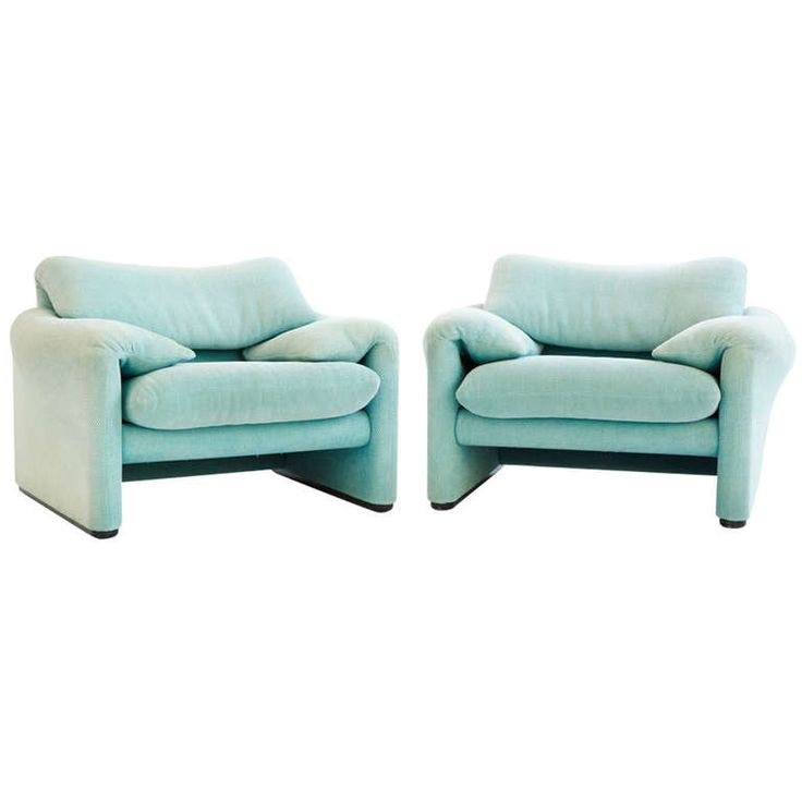 Vico Magistretti for Cassina Maralunga Lounge Chairs ca. 1973