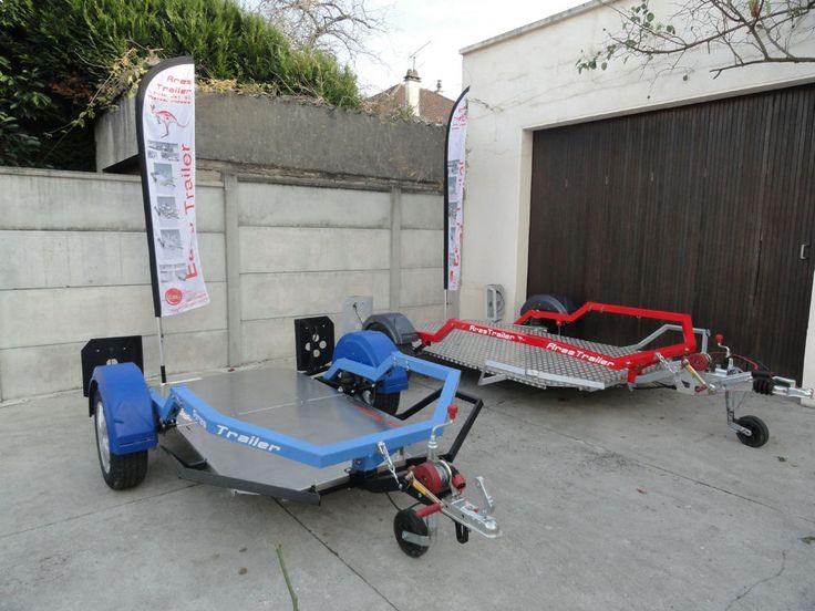 Petite annonce gratuite vente : Remorque ARES porte moto, jet ski, Quad,plateau ridelles, Quad, pliable, 4 en 1