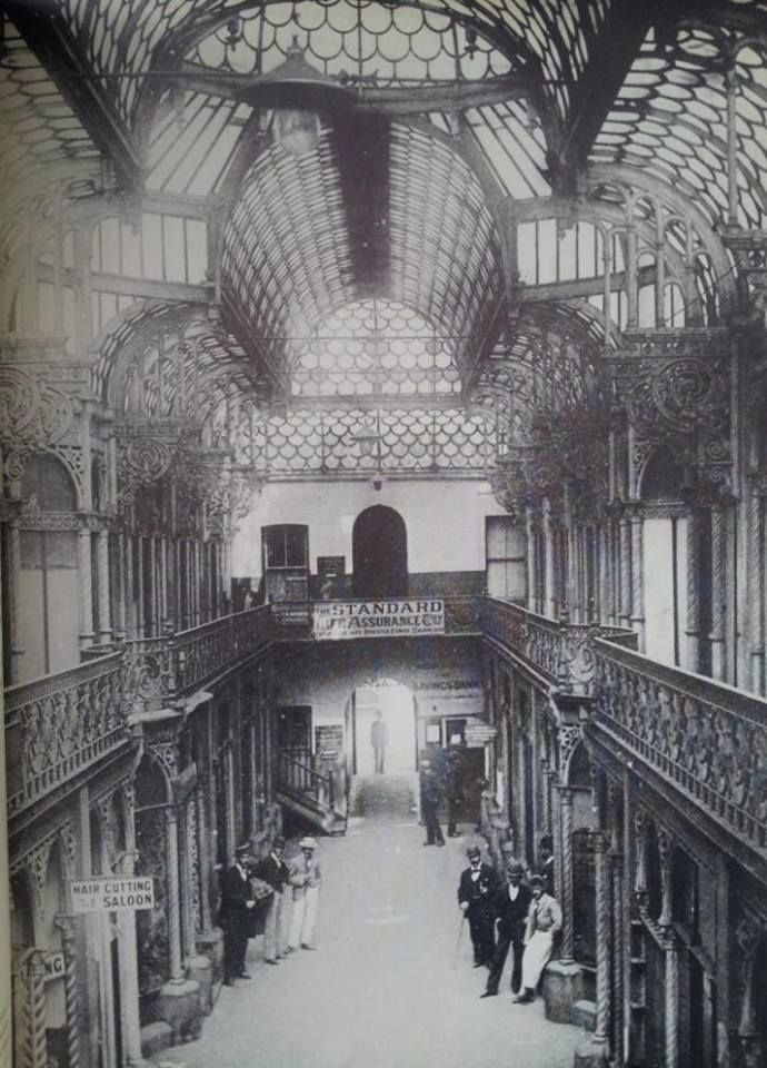 Old Arcade between Market and Commissioner Streets, Johannesburg. 1892 (With acknowledgement to Friedel Hansen)
