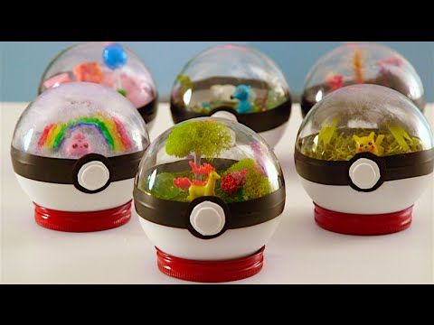 "[Art] DIY video making Pokemon ball ""terrariums"" - with bonus extra goofy host"