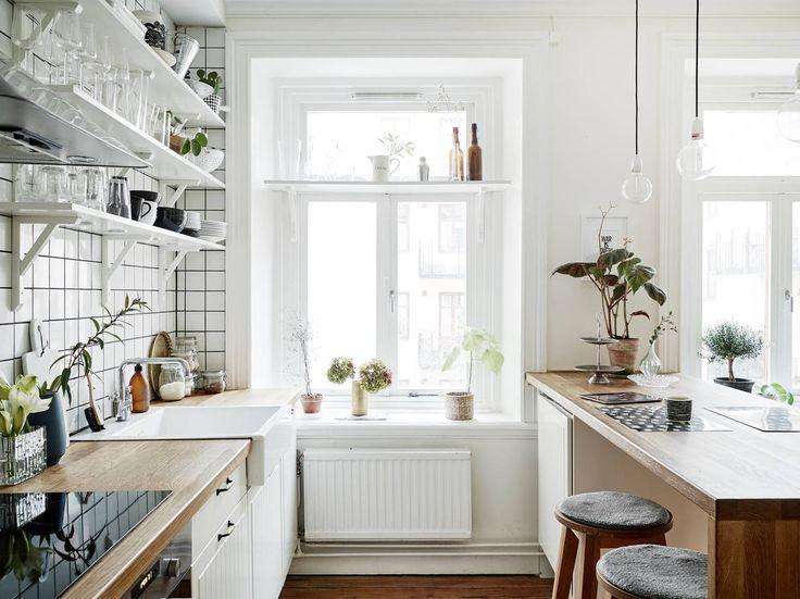 Open shelving in kitchen   Kitchen window