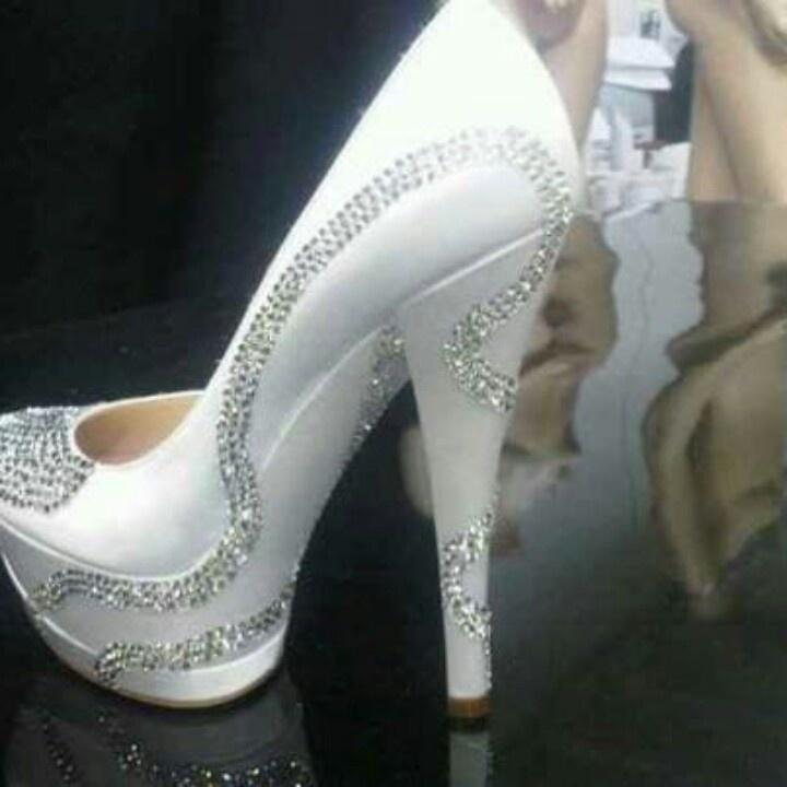 White wedding high heel