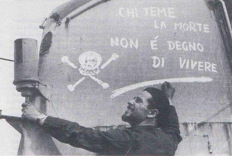 Italian submarine BARBARIGO's conning tower.