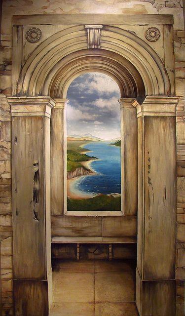 Trompe l' oeil Archway Door & Window