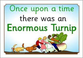 The Enormous Turnip visual aids (SB628) - SparkleBox