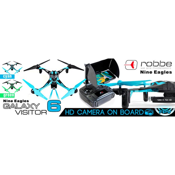 PACK Drone FPV Galaxy Visitor 6 Caméra HD Mode 1 + 2 Accus
