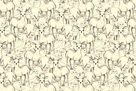 Woodland (white background) fabric by lydia_meiying on Spoonflower - custom fabric