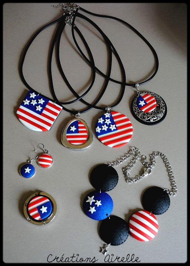 Drapeau américain http://www.dollycrazy.com/_fimo/